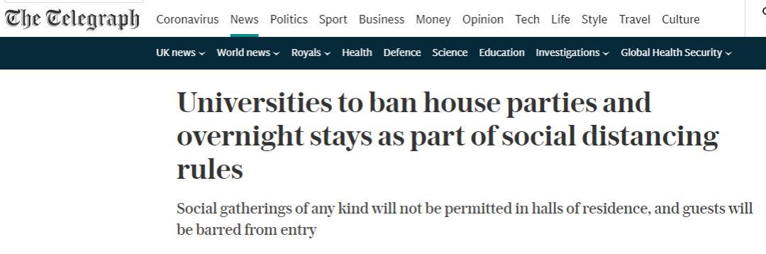 英国入境隔离时间缩短至10天,第一批大学生已经返校